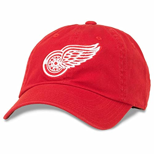 American Needle Detroit Red Wings Adult NHL Blue Line Adjustable Hat - Team  Color 2c237a54e