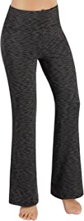 ODODOS Power Flex Boot-Cut Yoga Pants Tummy Control Workout Non See-Through Bootleg Yoga Pants