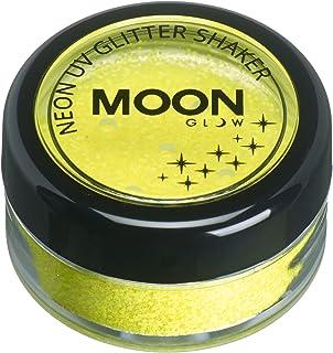 Moon Glow - Blacklight Neon UV Glitter Shaker 5g/0.18oz Yellow – Glows brightly under Blacklights/UV Lighting!
