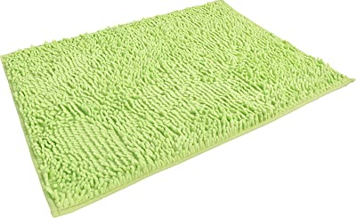 """ChezMax Chenille Specific Color Non-Slip Indoor Outdoor Hello Doormat Large Small Inside Outside Front Door Mat Carpet Floor Rug, Material:Chenille, Lime, 16""""*24"""""""