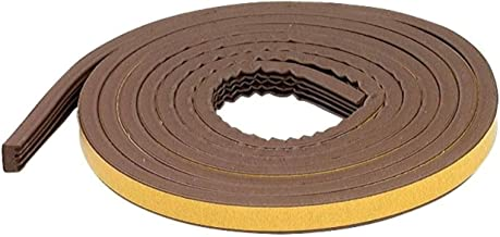 M-D Building Products 63644 All-Climate EPDM Weatherstrip, Todas as tiras para lacunas extra grandes, 5/16 pol. x 17 pés, marrom