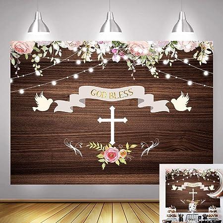 Picture Frame Heart Bow Wood cm9 5 Bomboniere Baptism Communion Shabby