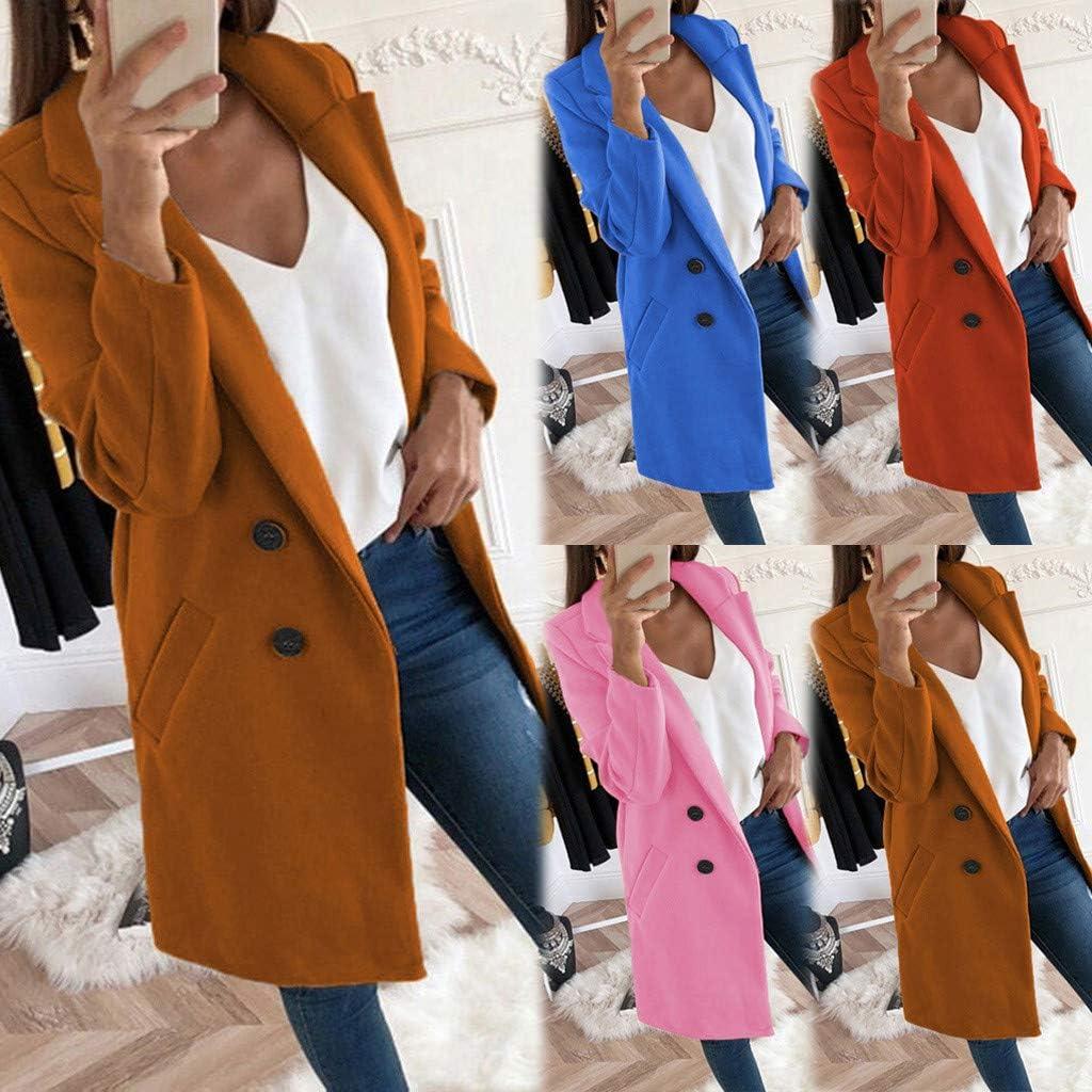 LEXUPE Woman Long Wool Coat Elegant Blend Coats Slim Female Long Coat Outerwear Jacket