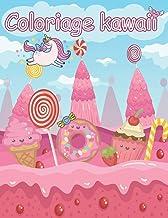Kawaii Coloriage: Dessert Mignon, Cupcake, Beignet, Bonbons, Crème Glacée, Chocolat, Nourriture, Fruits facile à colorier ...