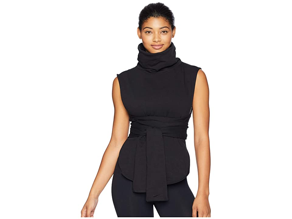 Nike Dry Pullover Sleeveless Versa Wrap (Black/Black) Women
