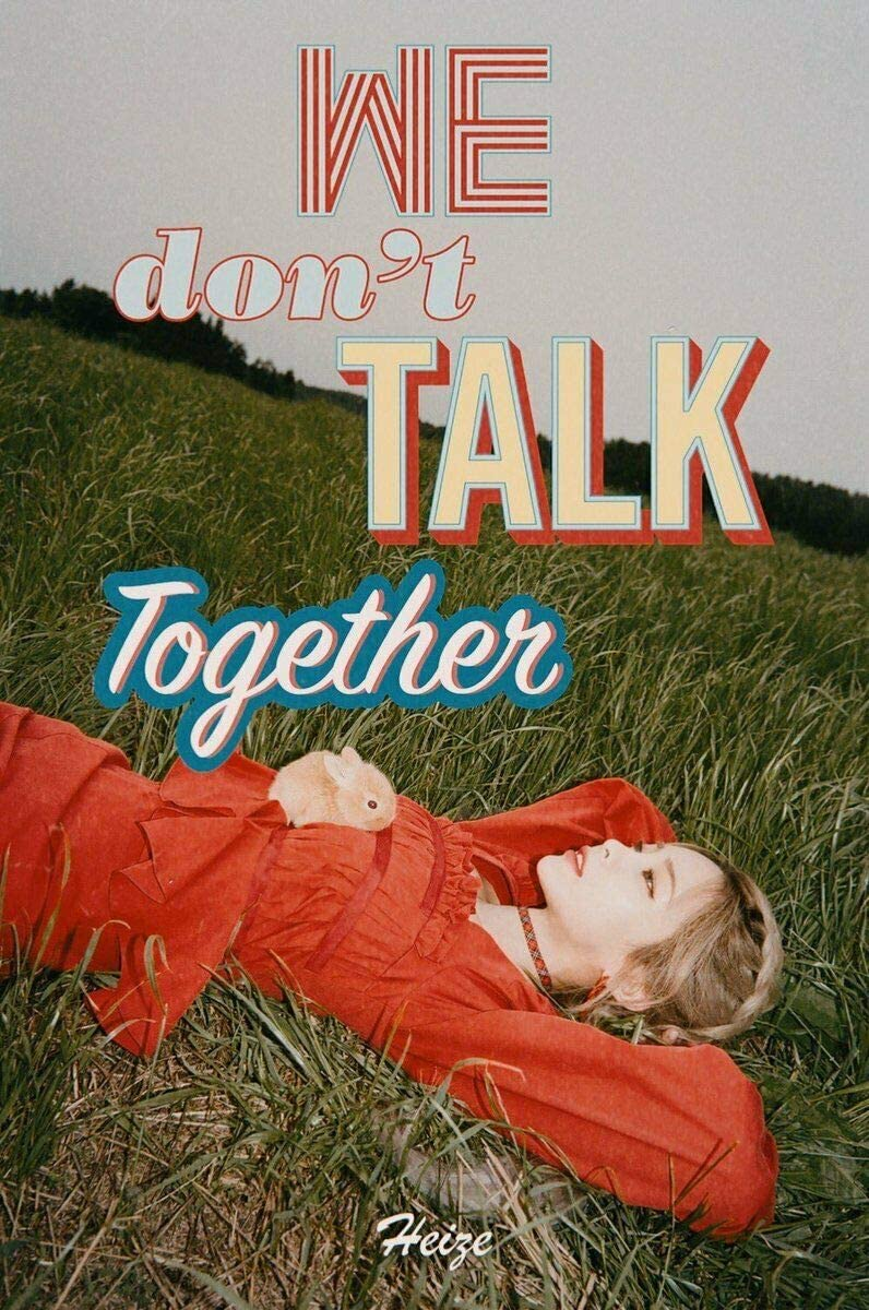 Max 86% OFF Heize 'We Don't Talk Together' New By half Suga Single Produce Album