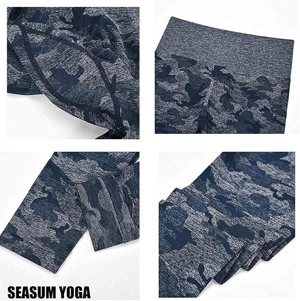 Femme Legging De Sport Pantalons Pantalon De Yoga Taille Haute Leggings Sport Pantalons De Fitness pour Femmes Noir