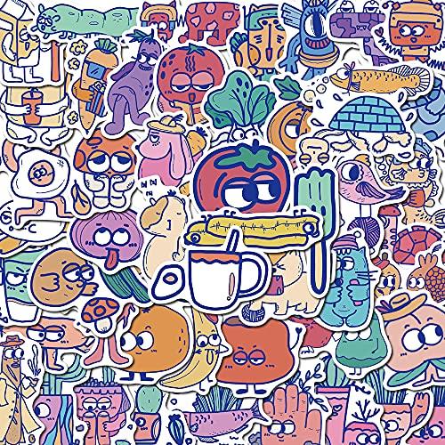 SHUYE Ilustración Diseño Original Pegatinas de Cuenta de Mano Bonitas Personalidad Decoración Creativa Pegatinas Autoadhesivas a Prueba de Agua 50 Hojas