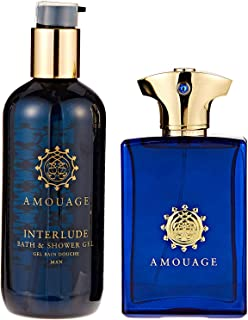 Amouage Interlude Eau de Perfume Spray with Shower Gel Gift Set for Men, Pack of 2