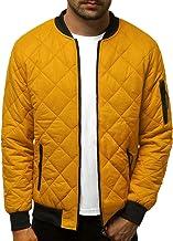 OZONEE Nature 4632 Overgangsjas voor heren, bomberjack, opstaande kraag, capuchon, gewatteerde jas, lichte outdoor bufferj...
