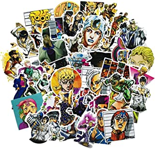 Apehuyuan 50 PCS Waterproof JoJo's Bizarre Adventure Stickers Anime Decal Vinyl Sticker for Laptop, MacBook, Luggage, Skateboard