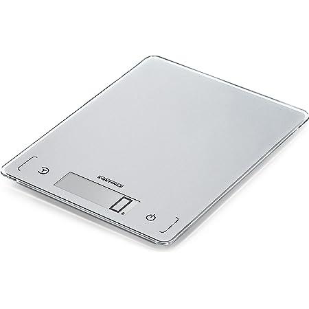 Soehnle Page Comfort 300 Slim, argent, balance de cuisine numérique multifonctions compacte & élégante, balance alimentaire de haute précision, pèse aliment jusqu'à 10kg, précision 1g, grand écran LCD