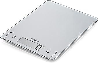 Soehnle Page Comfort 300 Slim, argent, balance de cuisine numérique multifonctions compacte & élégante, balance alimentair...