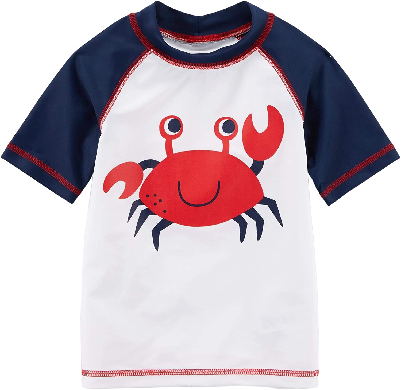 Carter's Boys' quality assurance Crab Graphic Rashguard Ranking TOP20 Shirt Red