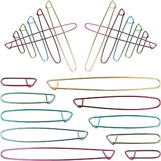 Dadabig 20pcs Clips marcador Alfileres de seguridad agujas Ganchillo Agujas Ganchillos Crochet Aluminio Agujas para Tejer ...