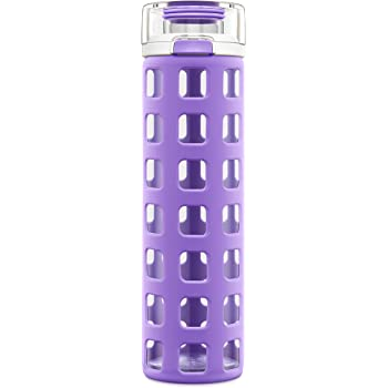 Ello Syndicate Glass Water Bottle with One-Touch Flip Lid