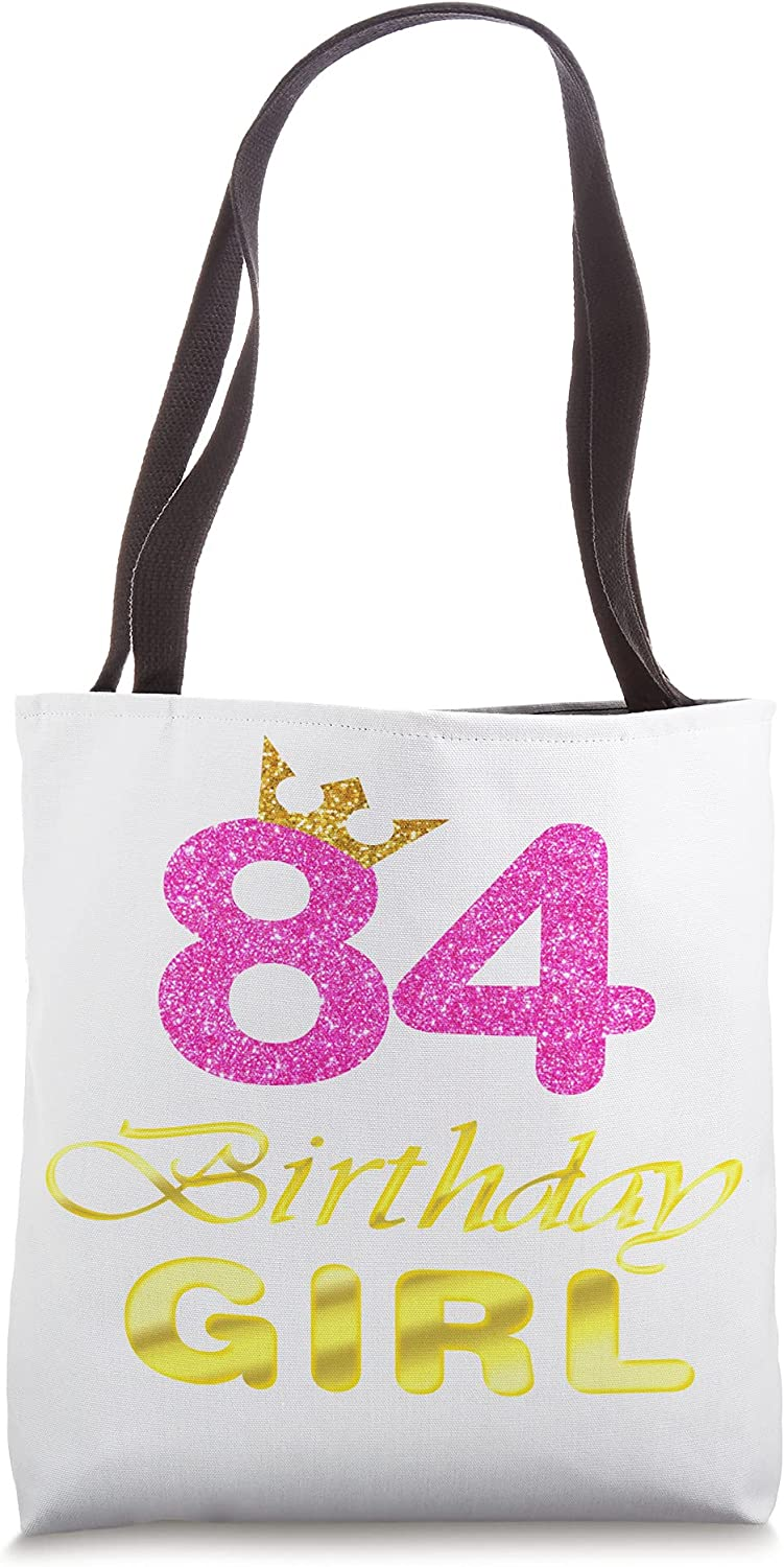 84th Birthday Girl OFFer Princess Cute Art Bag Years Tote For Max 87% OFF Old 84
