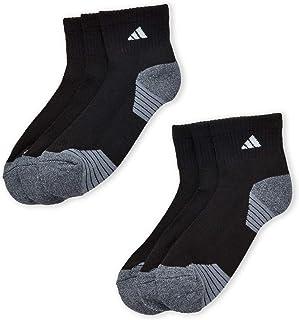 Adidas Men's Athletic Moisture Wicking Cushioned Quarter-Cut Socks 6-Pack/ 6-Pair Black Shoe: 6-12