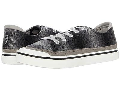 KEEN Elsa IV Sneaker (Black Plaid/White) Women