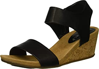 Women's Cool Step-Ankle Strap Slide Fashion Casual Wedge Heeled Sandal