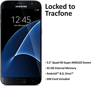 TracFoneSamsung GalaxyS7 4GLTE Prepaid Smartphone (Locked) - Black - 32GB - Sim Card Included - CDMA