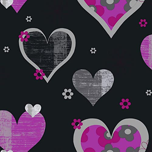black and pink wallpaper