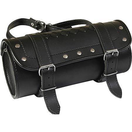 Motorrad Werkzeugtasche Werkzeugrolle Satteltasche Gepäckrolle Toolbag Chopper Baumarkt