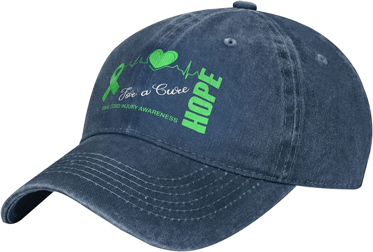 Hope for A Cure Spinal Cord Injury Awareness Adult Cowboy Hats Outdoor Activities Breathable Baseball Cap Men Women