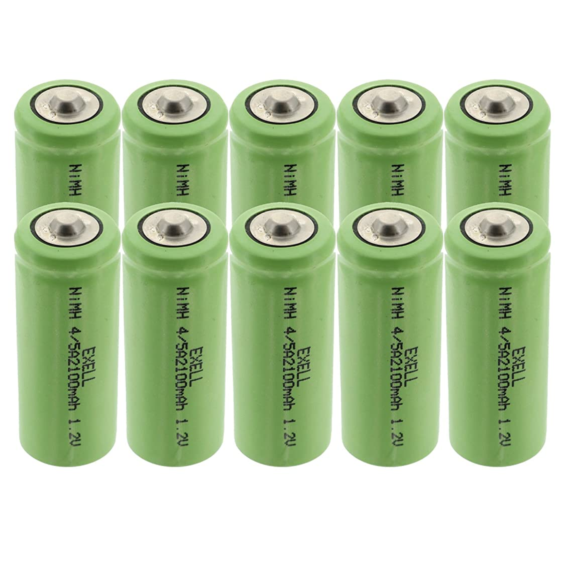 10x 1.2V 4/5A NiMH Rechargeable Button Top Batteries For radio controlled devices electric tools