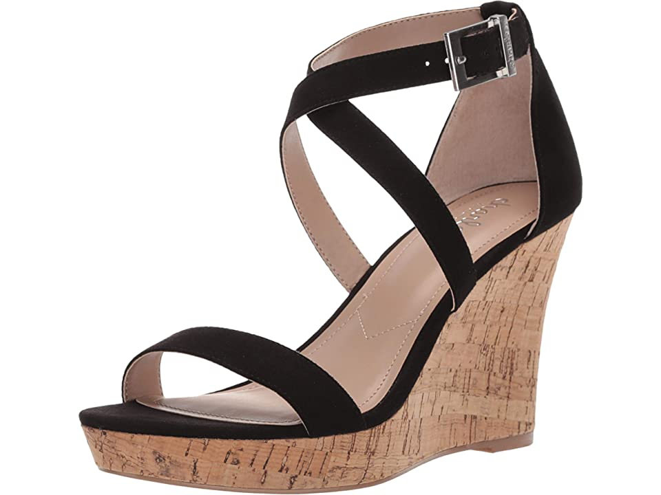 Charles by Charles David Launch Wedge Sandal (Black) Women's Wedge Shoes