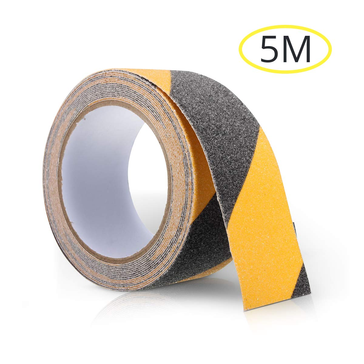 SAFETYON Cinta de Antideslizante 50MM x 5M PVC para Escaleras Piscina Negro+Amarillo: Amazon.es: Hogar