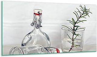 Plaque de protection en céramique pour plaques à induction Motif herbes Multicolore 90 x 52 cm