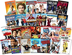 Ultimate Comedy 26 Film DVD Movie Collection: Anchorman Trilogy, 40 Year Old Virgin, Knocked Up, Sarah Marshall, Harold & Kumar, Blue Collar, South Park, Three Stooges, Rush Hour, Pee-Wee, Richard Pry