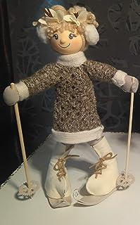 Muñeca esquiadora en tela personalizada