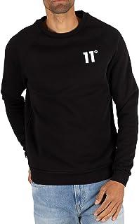 b223c05cebfa3 11 Degrees Homme Sweat-shirt de base, Noir