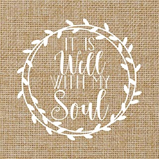 It Is Well With My Soul Vinyl Decal | Christian Sticker | Car Window | 5