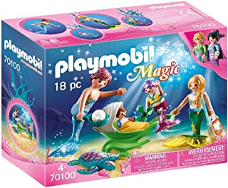 PLAYMOBIL 70100 Magic Family with Shell Pram Multi-Coloured