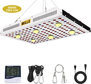 WILLS CREE COB 3000W LED Grow Light Full Spectrum LED Indoor Grow Lights with Monitor Adjustable Rope for Indoor Plants