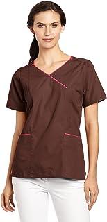 Carhartt Women's Scrubs Y-Neck Contrast Top
