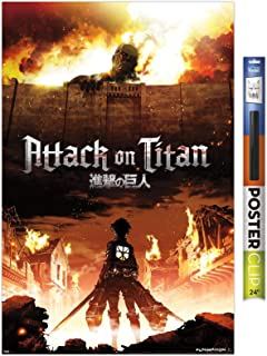 Trends International Attack on Titan - Fire Wall Poster, 22.375