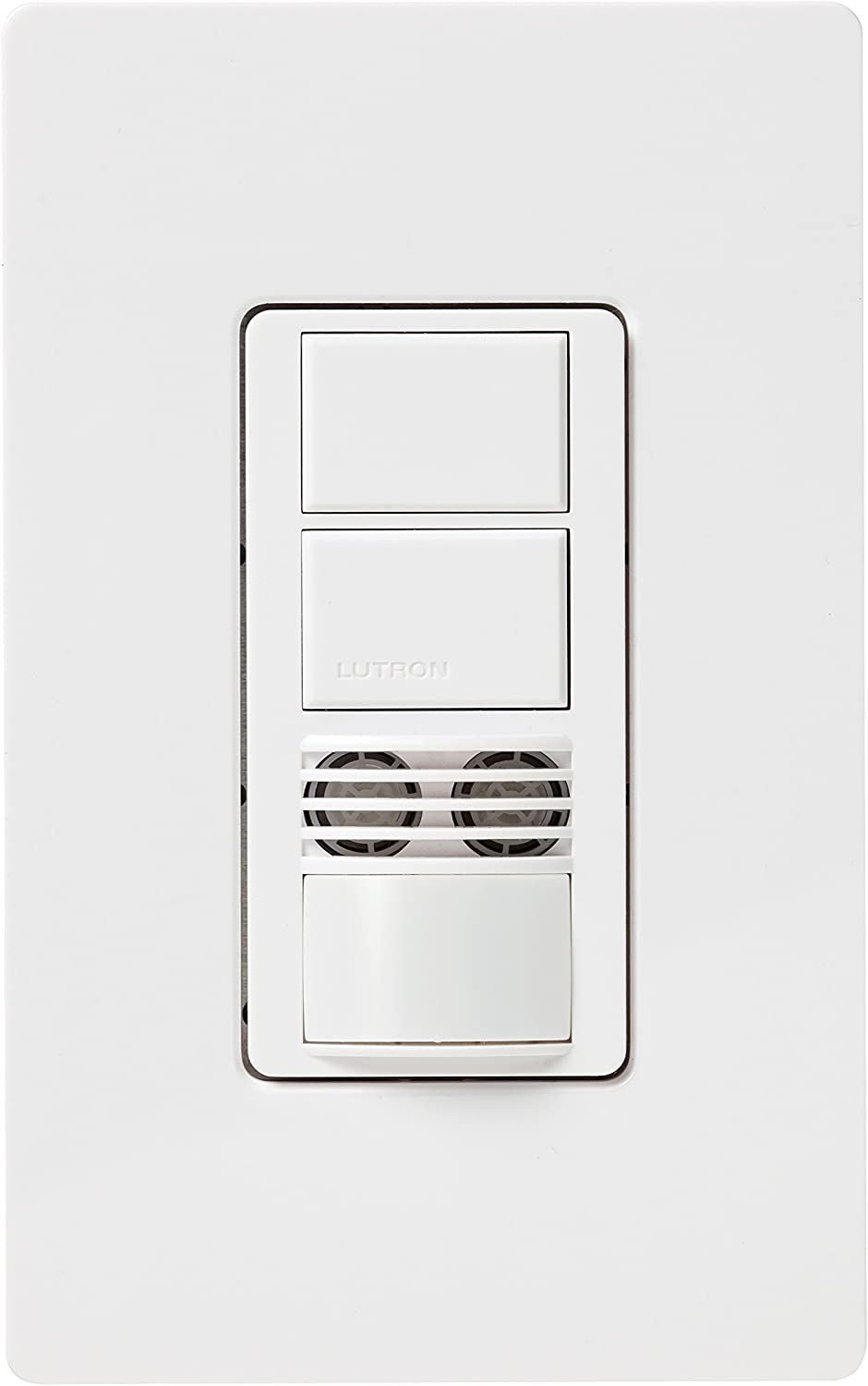 neutral required Lutron Maestro Dual Tech Dual Circuit Occupancy Sensor Switch 6 Amp 3-Way//Multi-Location MS-B202-IV Ivory