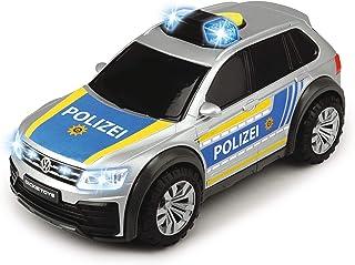 Dickie Toys VW Tiguan R-Line-Coche de policía con luz y Sonido, Incluye Pilas, 25 cm, a Partir de 3 años, Multicolor, ca. 11 x 25 cm (203714013)