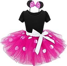 iiniim Vestidos de Princesa Diadema Niña Bebé Fiesta Bautizo Tutú Ballet Danza Falda Lunares con Braga Disfraces Fantasía Carnaval Cumpleaños Baile Infantil (12 Meses - 8 Años)