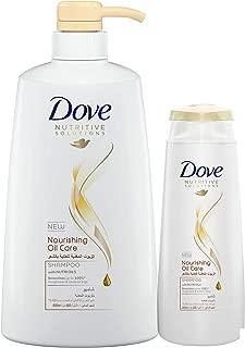 Dove Shampoo Nourishing Oil, 600ml with 200 ml
