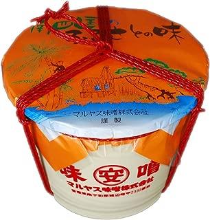 マルヤス味噌 麦味噌(白) 粗ずりタイプ タル詰 4kg