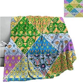 Cranekey Warm Baby Wrapped Crib Blanket Decorative Pattern,Throw Rug Sofa Bedding W70 x L84 Inch