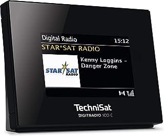 TechniSat DIGITRADIO 100 C – DAB+ Radio Adapter mit Bluetooth (DAB, UKW Empfangsteil zur Erweiterung von HiFi Anlagen und AV Receivern, Farbdisplay, IEC Buchse, Anschlusskabel, Wecker) schwarz