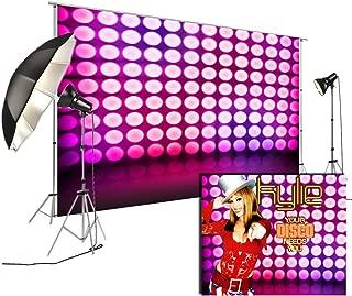 Violet Dance Disco Lights Stage Background for Disco Party Decoration FiVan Glare-Free Vinyl Backdrop FD-7734