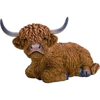 Vivid Arts Highland Cattle // Cow Pet Pal Garden Ornament