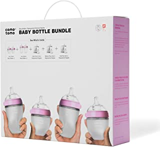Comotomo Baby Bottle Bundle, Pink, 1 Set